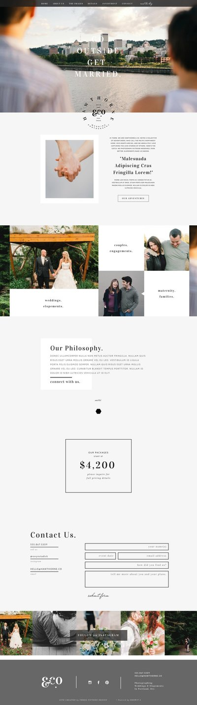 Showit website template Hawthorne