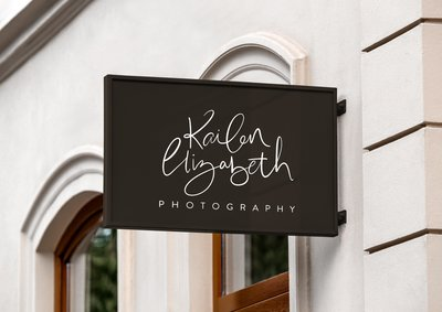 Logo by Just like White Creative for Kailen Elizabeth Photography