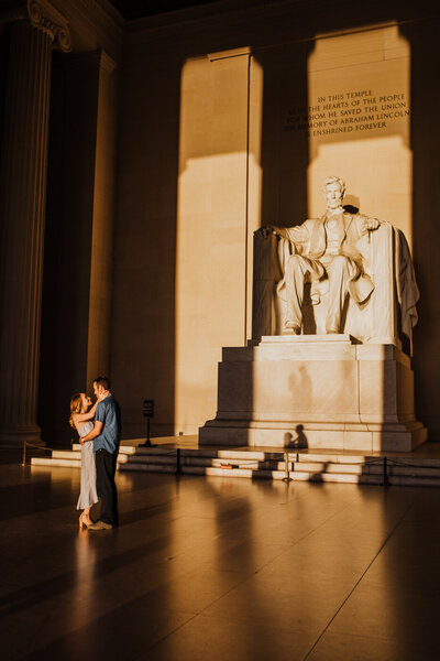 Engagement Photos at the DC Monuments