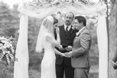 Katie and Nick's emotional wedding ceremony. Click here for wedding wire reviews!