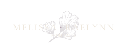 Melissa Raelynn Photography Logo with floral design