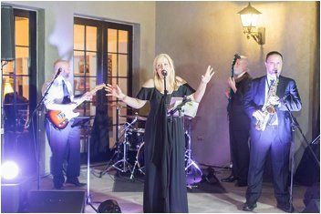 Erica Berg Collective sings at Hotel Domestique wedding reception