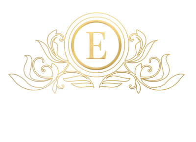 Gold scroll with E - no background