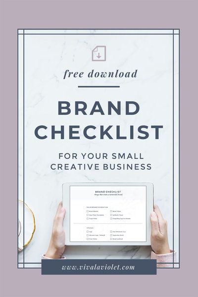 Viva la Violet | Brand Checklist | Handcrafting Heartfelt Brand & Web Designs for Female Creatives