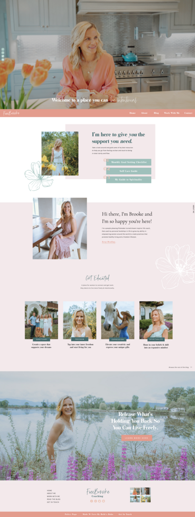 Showit Web Design - Home Page Design - Home Page Design Layout