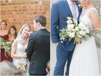 emotional wedding at the Old Cigar Warehouse downtown Greenville