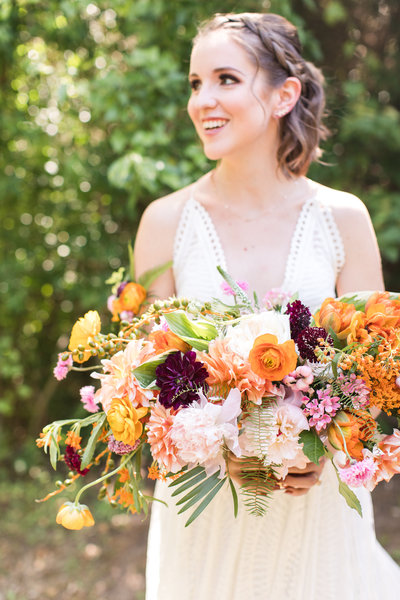 Bright Tropical Dallas Wedding, Bride, Katie Frost Weddings