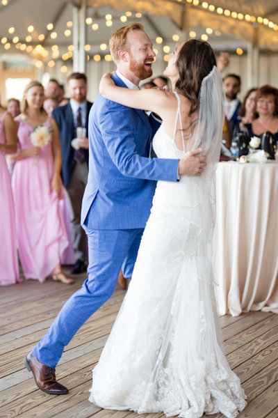 First dance at Chesapeake bay