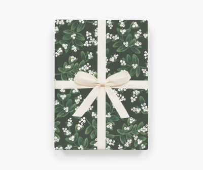 Rifle Paper Co. - Evergreen Mistletoe Wrapping Sheets