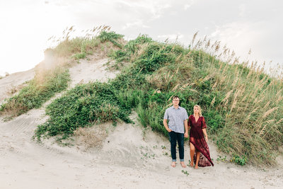 Virginia Wedding Photographer, couple standing next to a grass hill