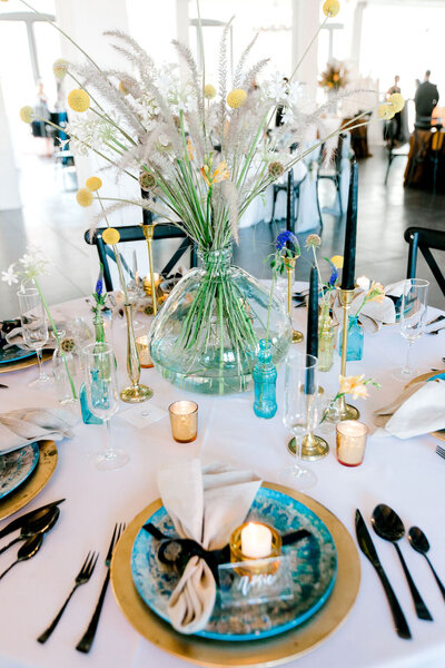 event table scape Chicago wedding day