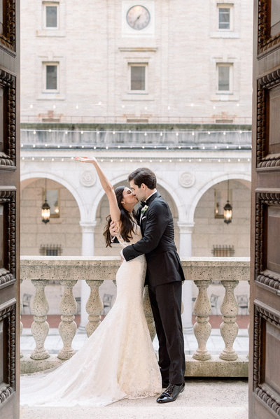 A black tie wedding with high end details at the Boston Public Library planned by Best of Boston Wedding Planner Always Yours Events.