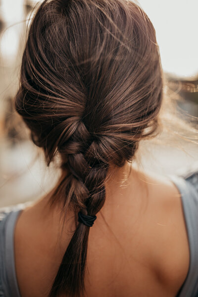 girl back braid