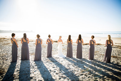 Bridesmaid's on the beach at Scripps Seaside Forum