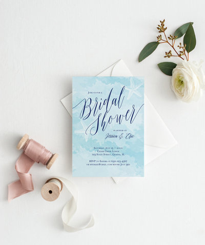 Message in a Bottle Bridal Shower Invitation