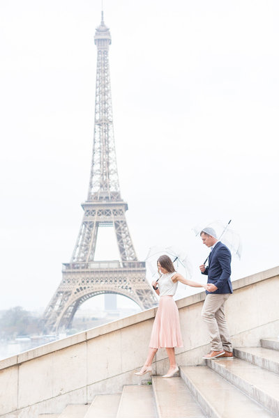 Eiffel Tower Engagement Session Paris, France | Amy & Jordan Photography