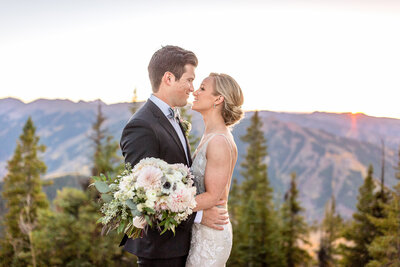 A Couple Embrace in Aspen, Little Nell