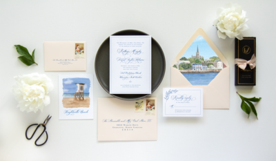 Wilmington, NC wedding invitations