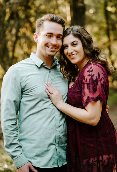 redwood forest engagement session in Oakland, California