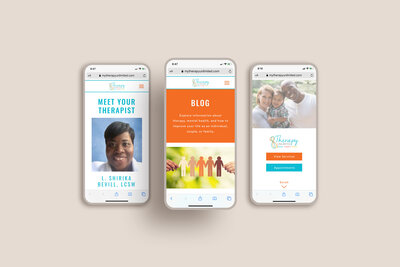 Therapy Unlimited site 3 mobile mockup