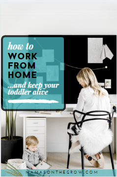 How to Work From Home and Keep Your Toddler Alive- Mamas-on-the-grow