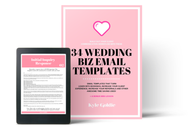 Wedding Business Email Templates Mockup Kyle Goldie Clear