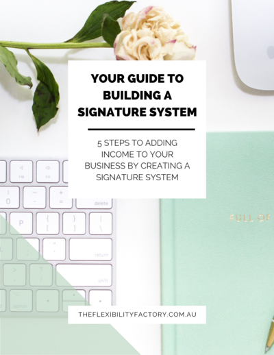 The exact steps to create your own signature system