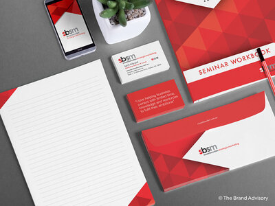 Simon Bowden Strategic Marketing Stationery by The Brand Advisory