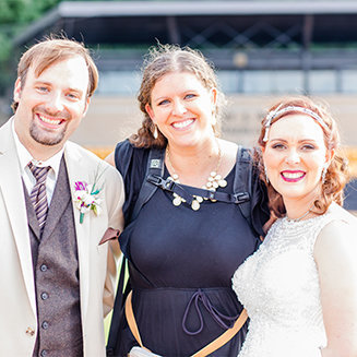 kalamazoo michigan wedding photographer with bride and groom