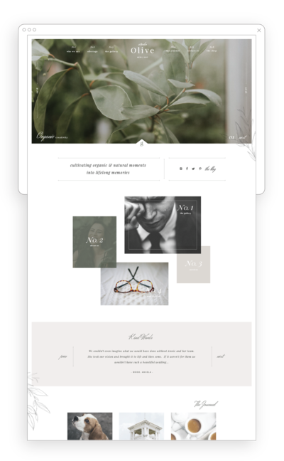 Neutral and Sophisticated Website Template
