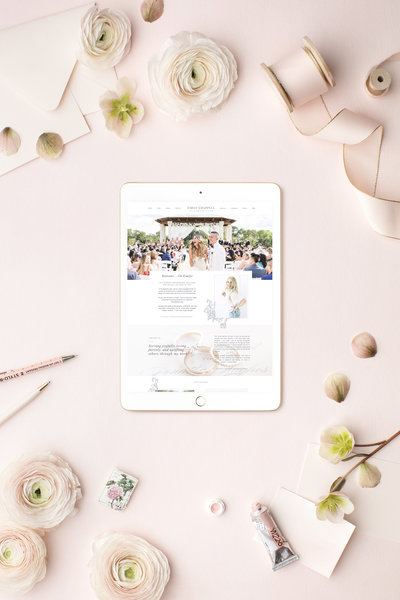 Emily Chappell Photography iPad Site Mockup