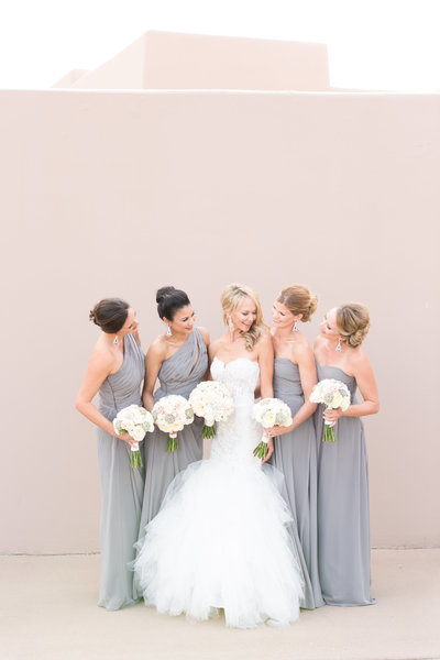 Gray Four Seasons Bridesmaids Scottsdale, Arizona | Amy & Jordan Photography