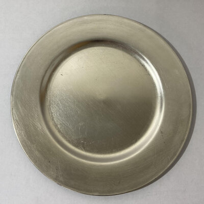 champagne round charger plate
