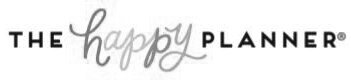 the happy planner logo bw