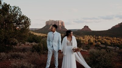 Screenshot from intimate wedding video in Sedona from Dallas Wedding Videographer, Jordan Jeanty Studios