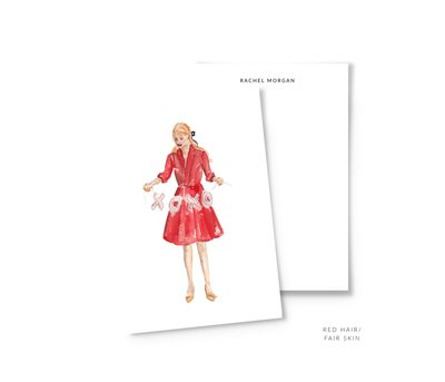 valentines personalized stationery red hair the illustrated life