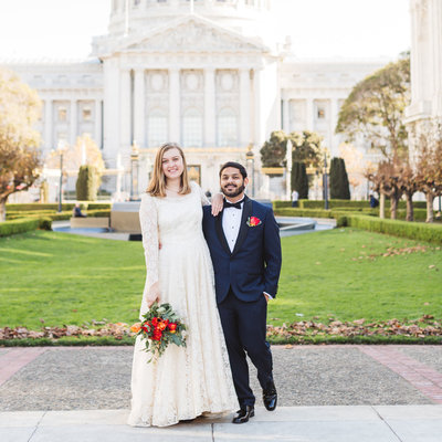 San Francisco City Hall wedding photography by Zoe Larkin Photographer