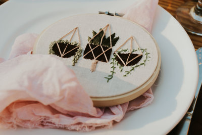 Fun embroidered wedding favor