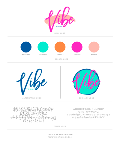 Vibe Tribe Brand Board