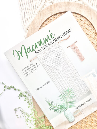 Macrame for the modern home on tray