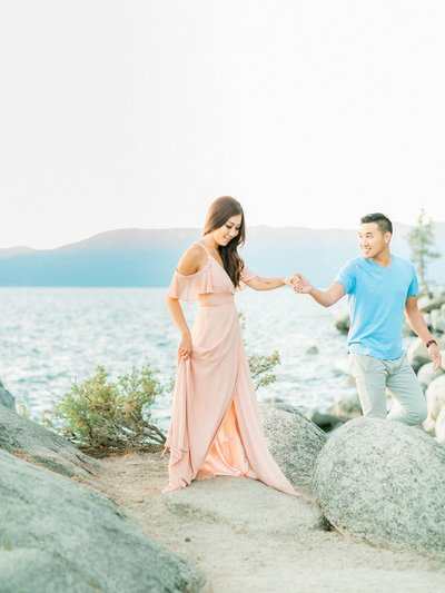 Lake Tahoe Sunset Engagement Photos_0028