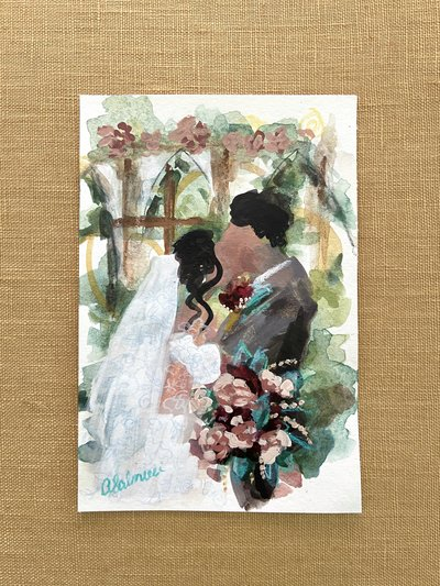 Ever-After-Farms-Ranch-Fall-Wedding-Abstract-Watercolor-Painting