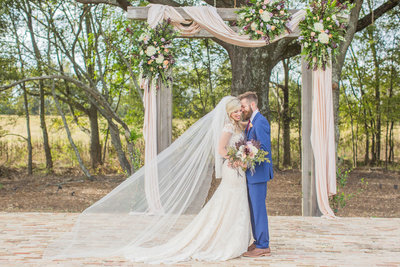 A Fall Wedding At Bridlewood Of Madison, Mississippi Wedding Bride and Groom