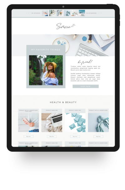 Showit Website Template- Simone | Viva la Violet