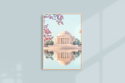 Washington DC Cherry Blossoms Print by Costola Photography