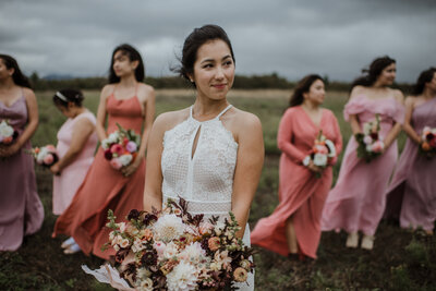 Outdoor bridal photo