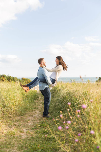 Jaimie + Josh's engagement session at Goosewing Beach Preserve