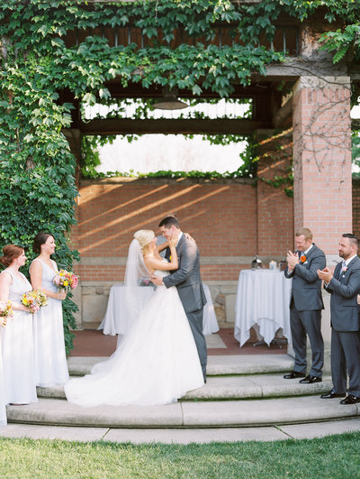 Beautiful Outdoor Wedding at White River Gardens Indianapolis by Sharin Shank Photography
