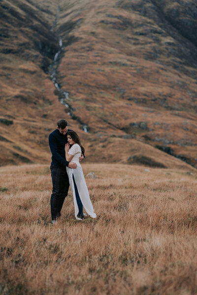 Couple in the Scottish Highlands of Glen Co