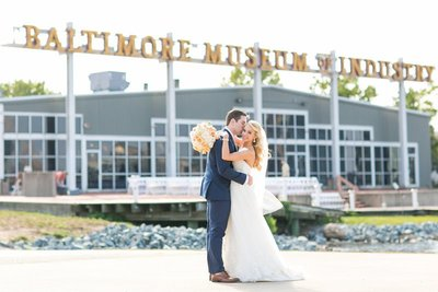 Baltimore Museum of Industry Wedding Portrait